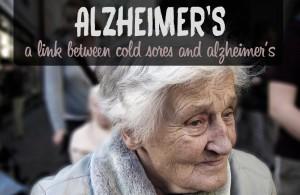 cold sores alzheimer