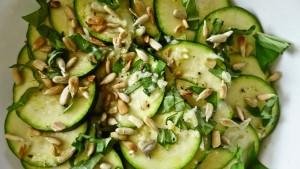 carpaccio recipe with zucchini fresh basil nuts