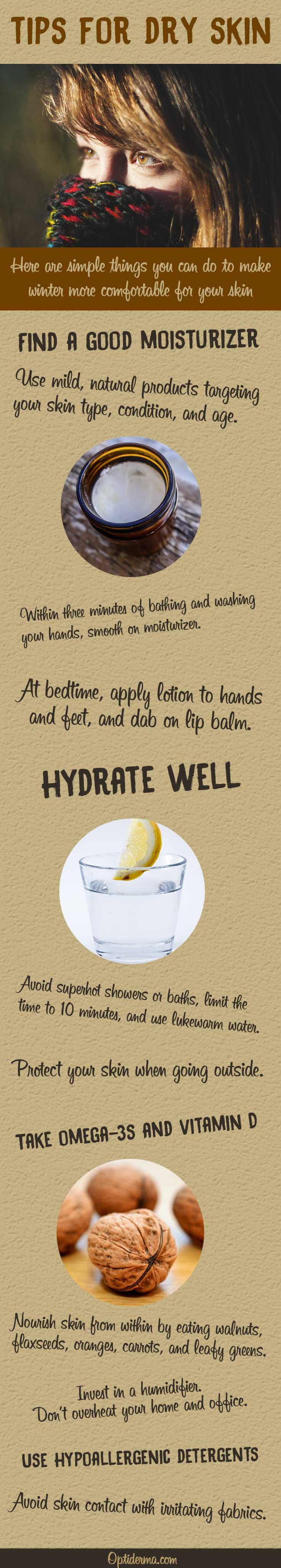 Tips to Relieve Dry Skin in Winter - Infographic