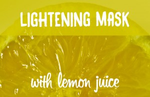freckle lightening mask recipe