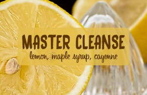 lemon maple cayenne master cleanse