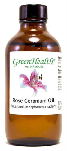 Rose Geranium Oil for Dogs (Flea Repellent)