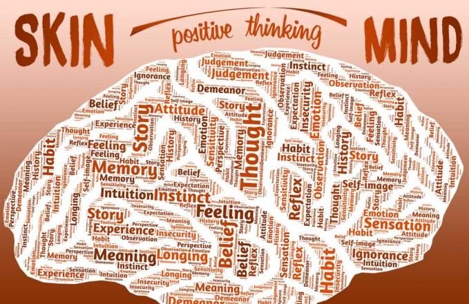 think positive mind heal skin