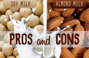 Soy vs almond milk