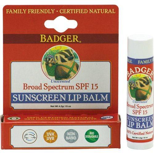 Badger Lip Balm Sunscreen Lips