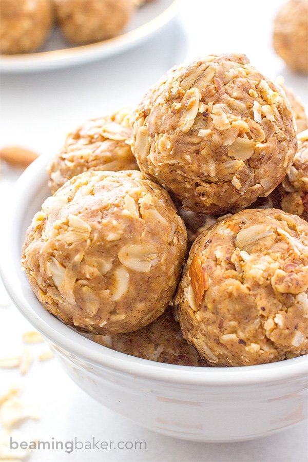 Almond Butter Coconut Bites - Healthy Snack