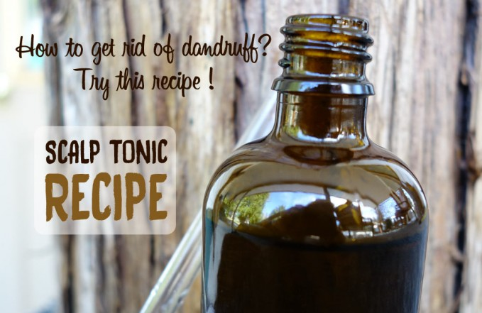 Anti-dandruff scalp tonic recipe