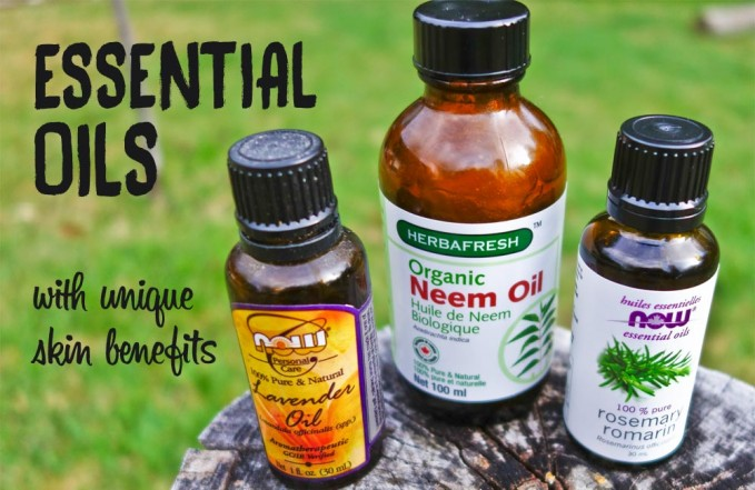 Essential oils with skin benefits