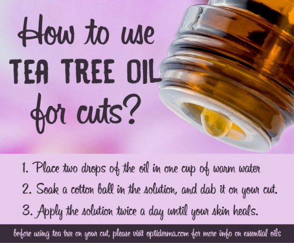 How to use tea tree oil for wounds & cuts