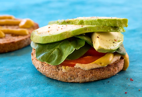 Hummus avocado sandwich