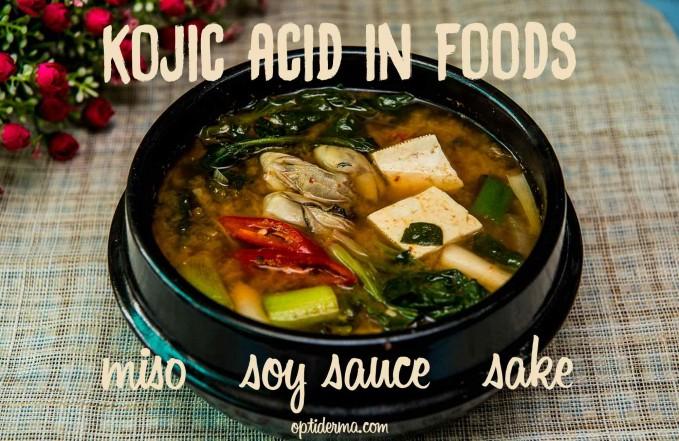 Kojic acid natural sources