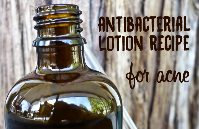 Antibacterial lotion recipe for acne