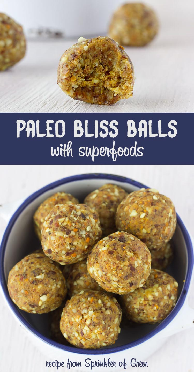 Paleo Bliss Balls with Superfoods