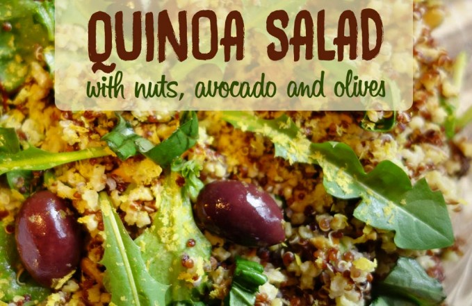 quinoa avocado salad recipe with olives