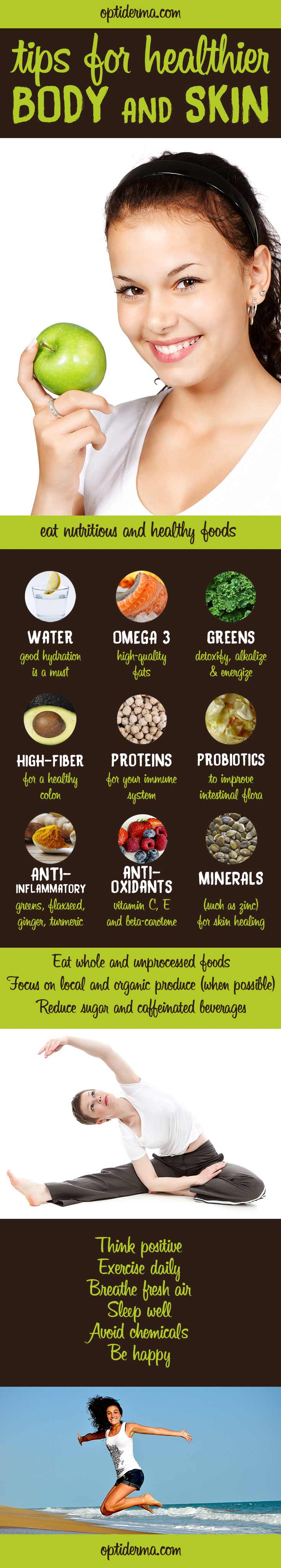 tips for healthier body & skin